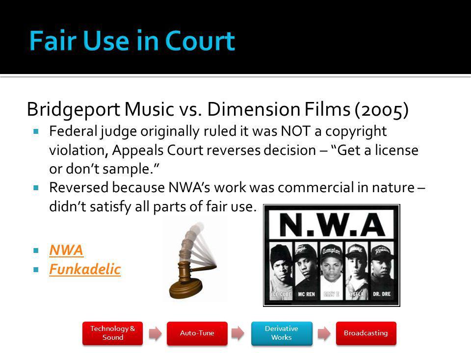 Bridgeport Music vs.