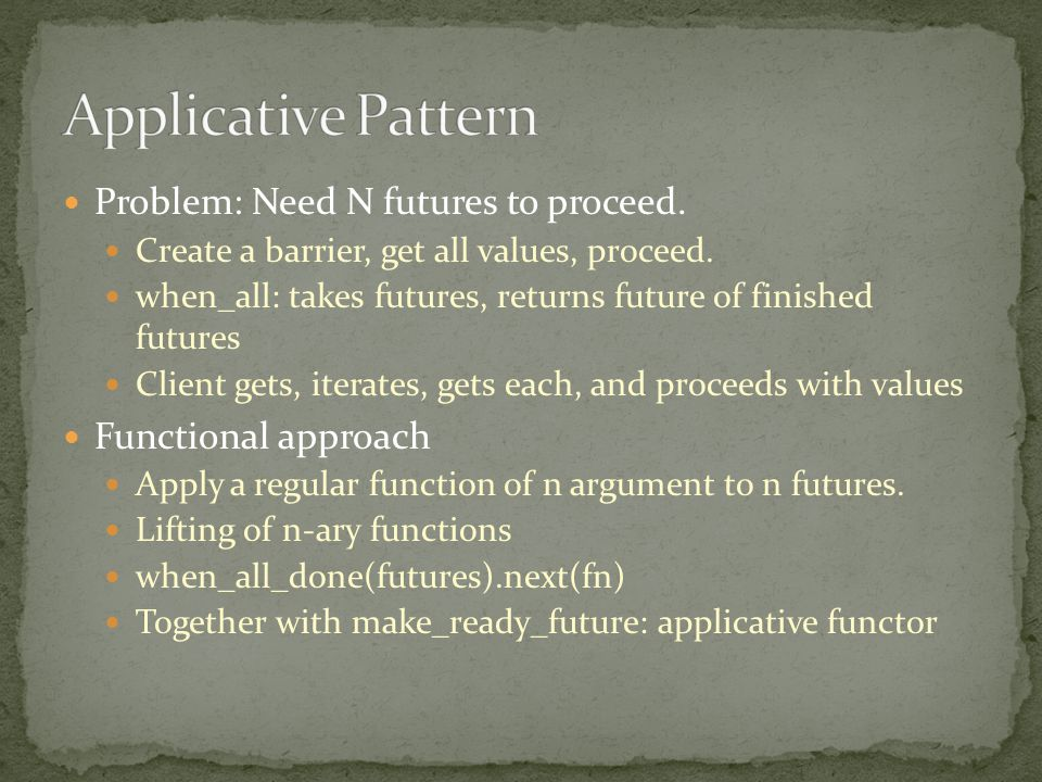 Problem: Need N futures to proceed. Create a barrier, get all values, proceed.