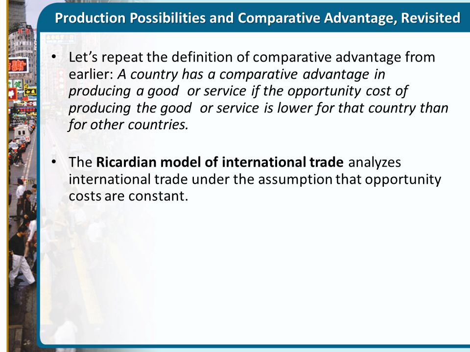 Heckscher-Ohlin Model The Heckscher–Ohlin model shows how comparative advantage can arise from differences in factory endowments: goods differ in their factor intensity, and countries tend to export goods that are intensive in the factors they have in abundance.