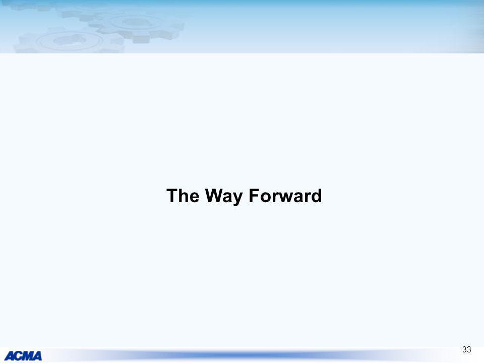 The Way Forward 33