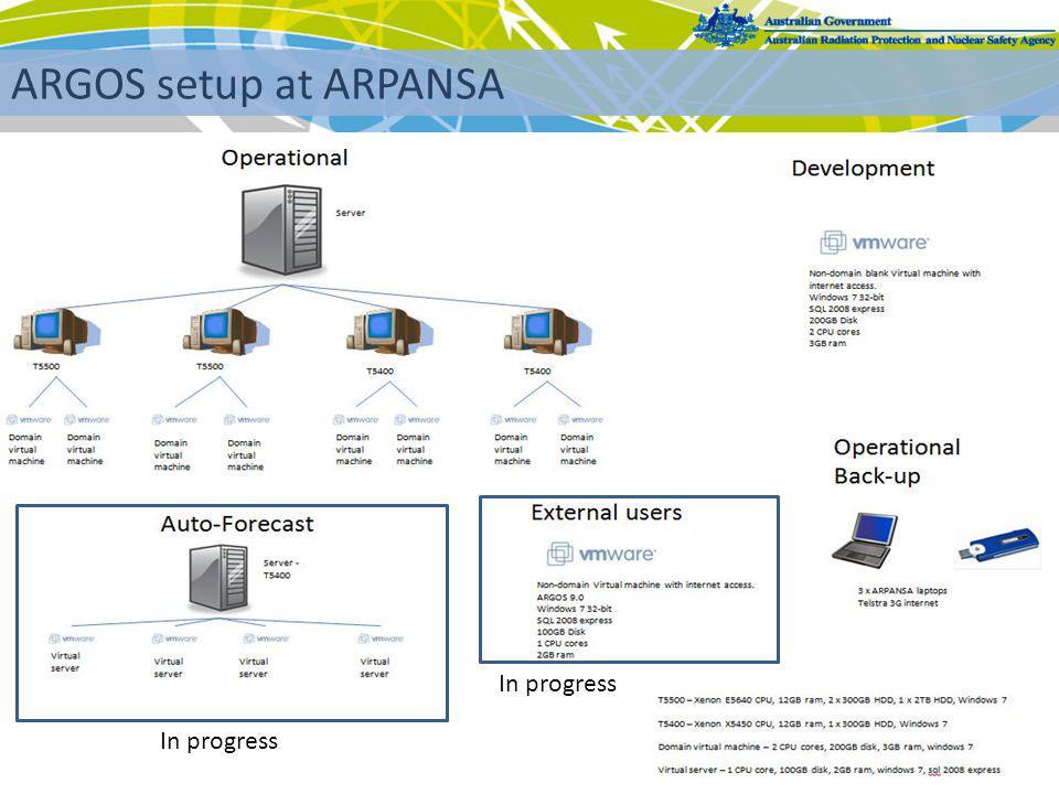 3 ARGOS setup at ARPANSA In progress
