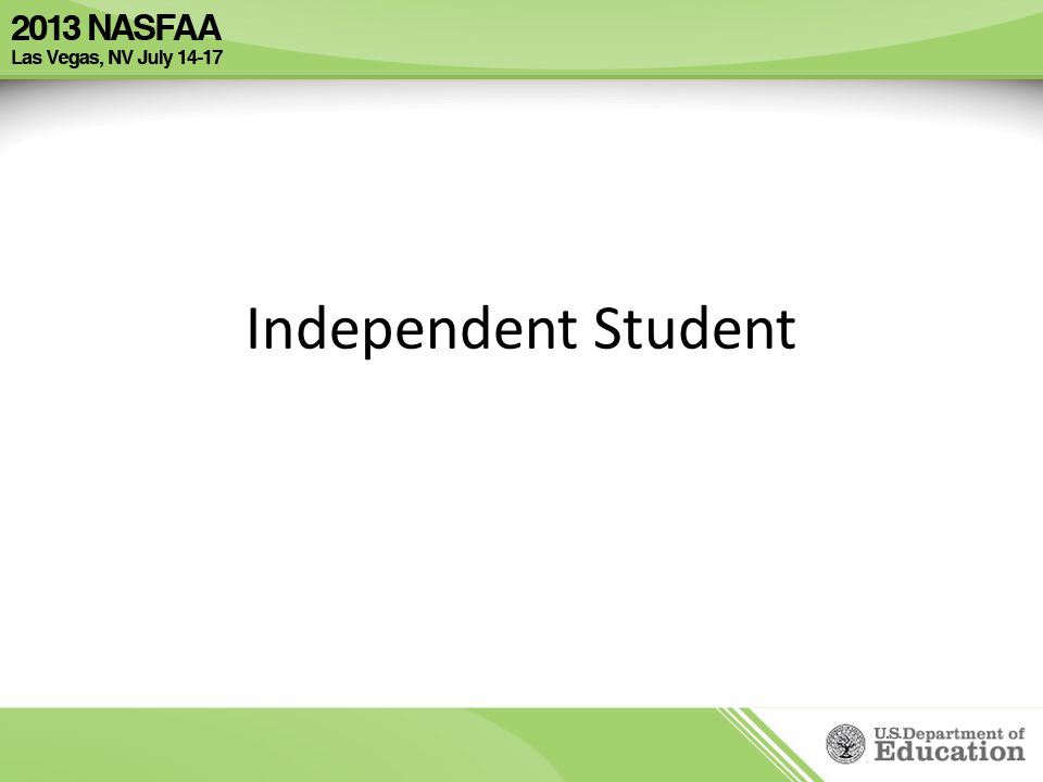 Independent Student