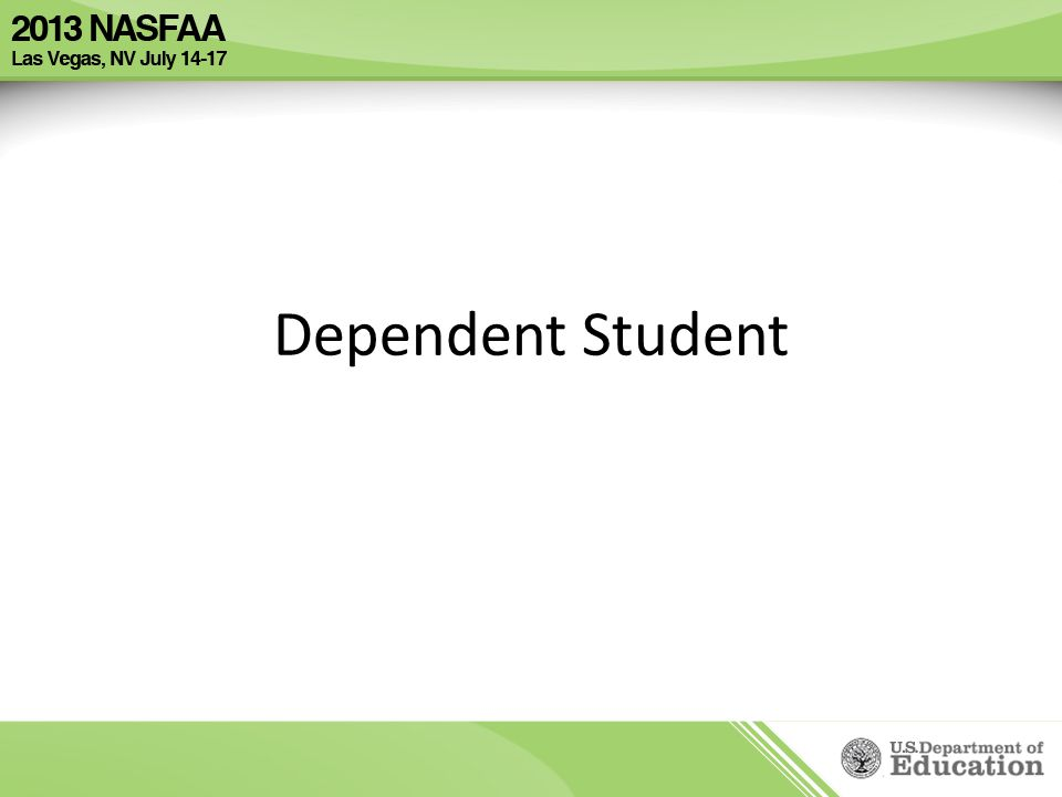 Dependent Student