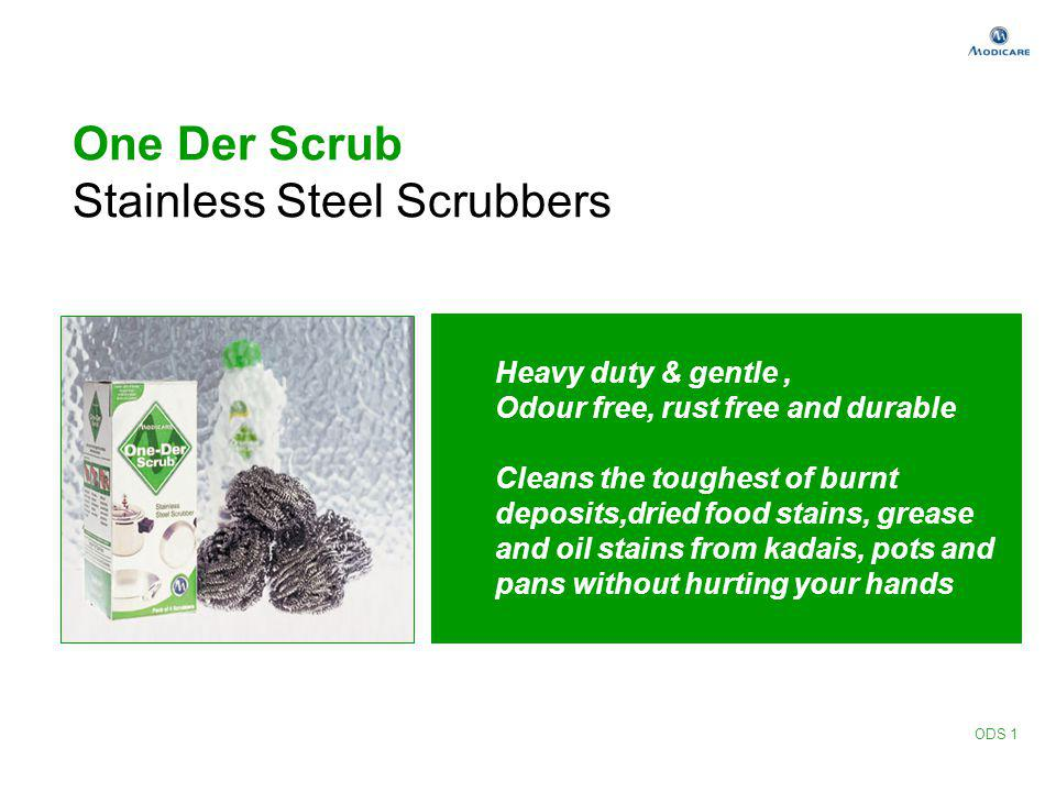 One Der Scrub Stainless Steel Scrubbers Heavy duty & gentle, Odour free, rust free and durable Cleans the toughest of burnt deposits,dried food stains
