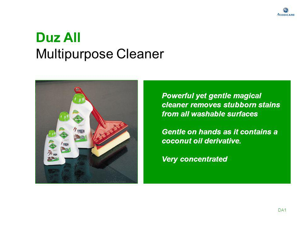 Duz All Multipurpose Cleaner Powerful yet gentle magical cleaner removes stubborn stains from all washable surfaces Gentle on hands as it contains a c