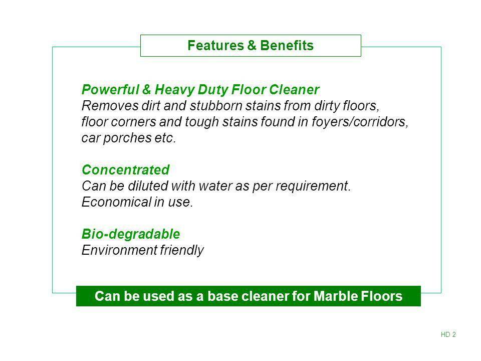 Powerful & Heavy Duty Floor Cleaner Removes dirt and stubborn stains from dirty floors, floor corners and tough stains found in foyers/corridors, car