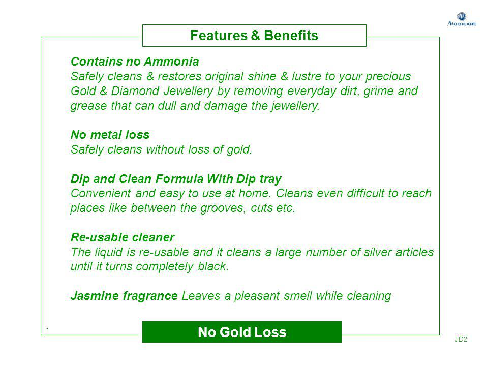 Contains no Ammonia Safely cleans & restores original shine & lustre to your precious Gold & Diamond Jewellery by removing everyday dirt, grime and gr