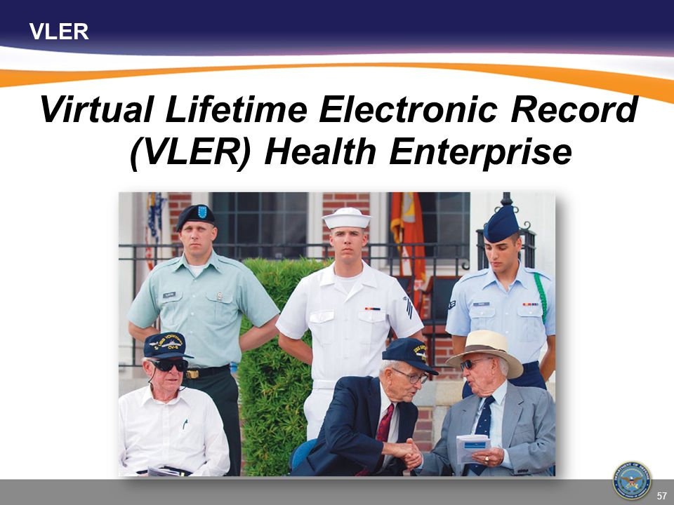 VLER Virtual Lifetime Electronic Record (VLER) Health Enterprise 57