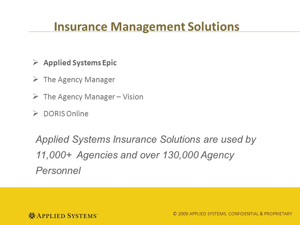 © 2009 APPLIED SYSTEMS.CONFIDENTIAL & PROPRIETARY Requirements.