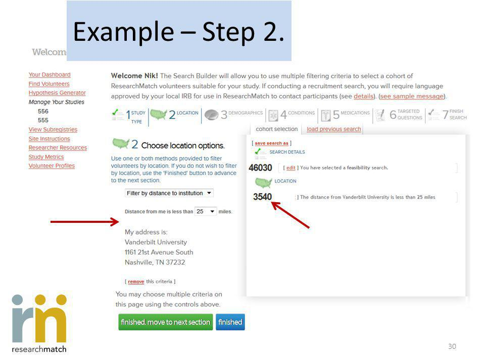 Example – Step 2. 30
