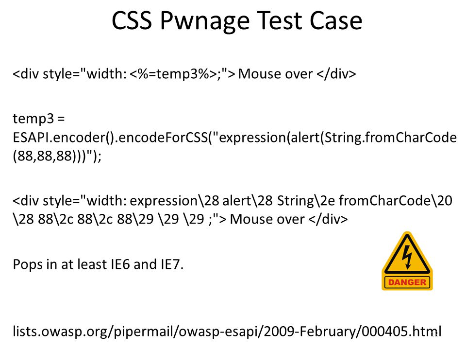 CSS Pwnage Test Case ;