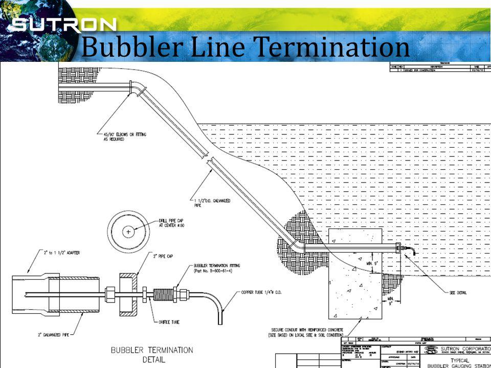 Bubbler Line Termination