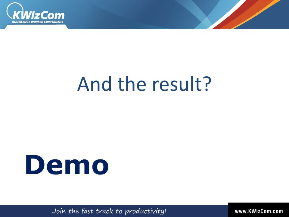 And the result Demo
