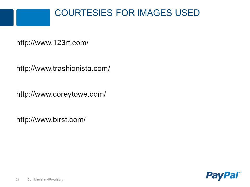 Confidential and Proprietary21 http://www.123rf.com/ http://www.trashionista.com/ http://www.coreytowe.com/ http://www.birst.com/ COURTESIES FOR IMAGE