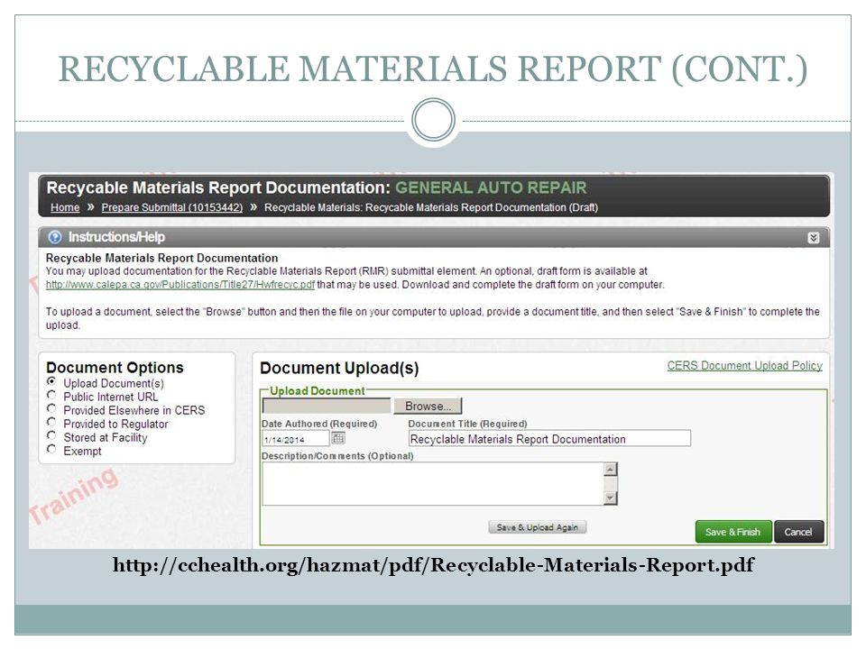 RECYCLABLE MATERIALS REPORT (CONT.) http://cchealth.org/hazmat/pdf/Recyclable-Materials-Report.pdf