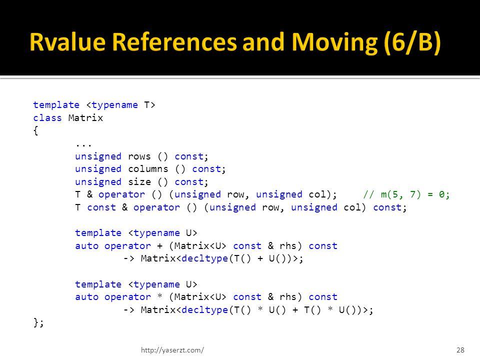 template class Matrix {...