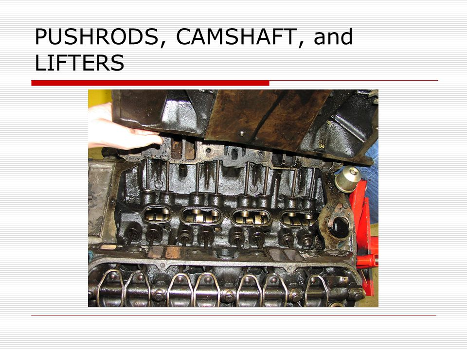 PUSHRODS, CAMSHAFT, and LIFTERS