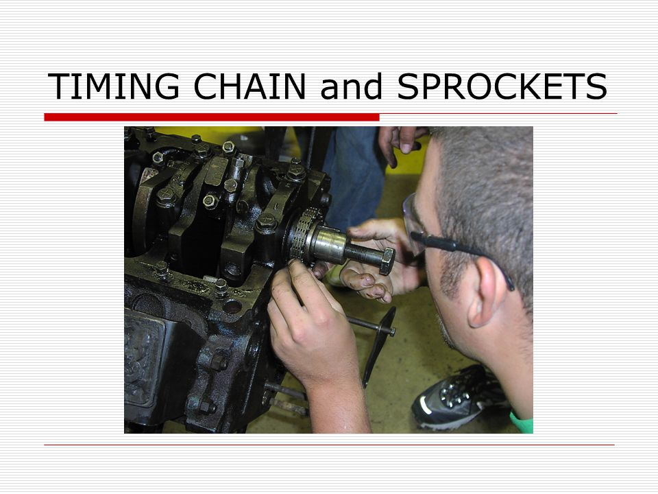 TIMING CHAIN and SPROCKETS