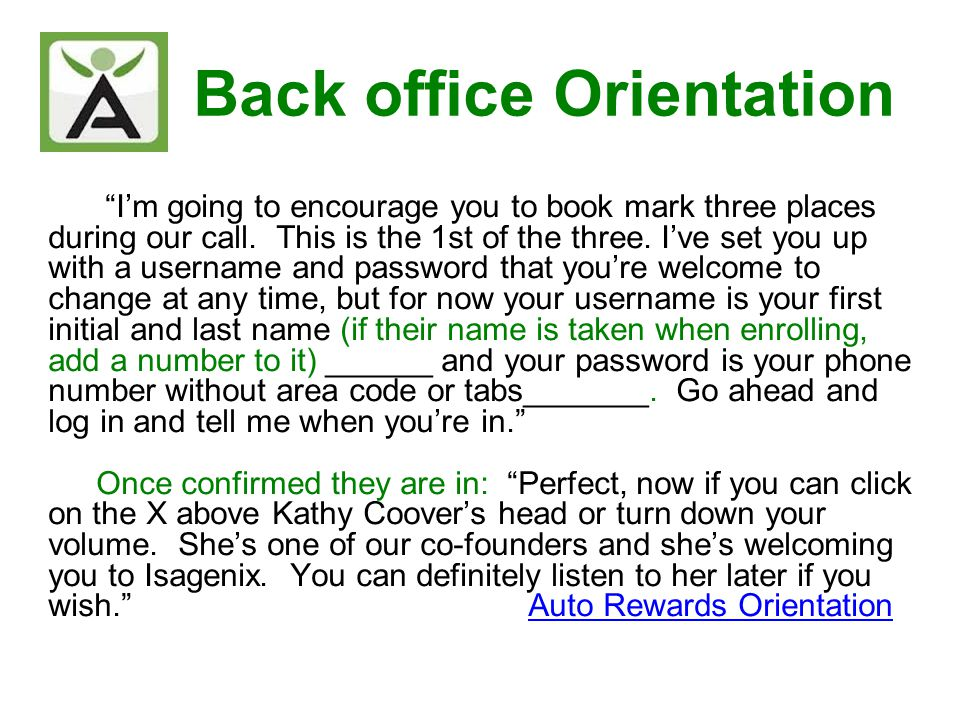So (Enrollee) this is your back office and this is where youre going to be placing your orders, engaging in the business opportunity if you so desire and exploring all of the resources that Isagenix provides.