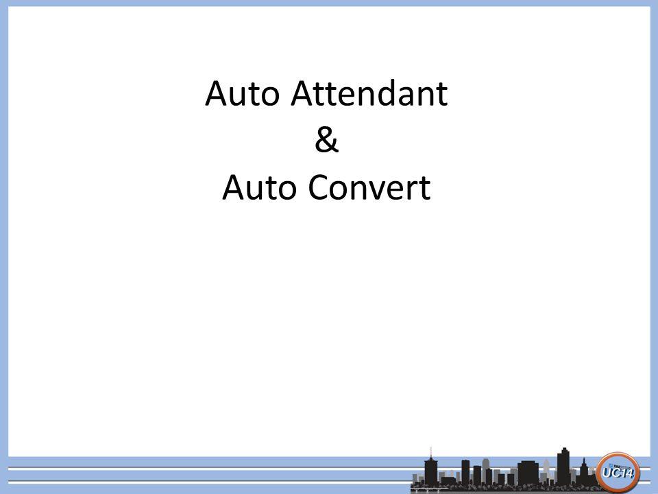 Auto Attendant & Auto Convert