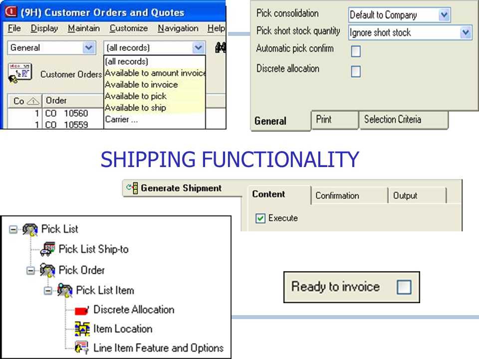 SHIPPING FUNCTIONALITY