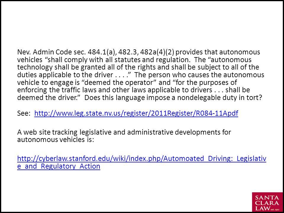Nev. Admin Code sec.
