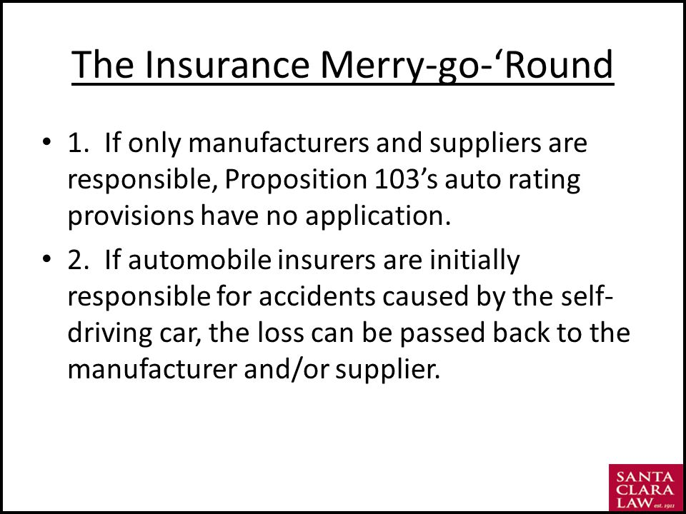 The Insurance Merry-go-Round 1.