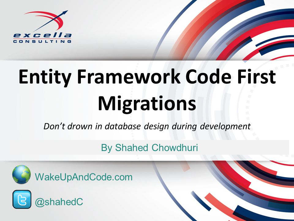 Entity Framework Code First Migrations By Shahed Chowdhuri Dont drown in database design during development @shahedC WakeUpAndCode.com