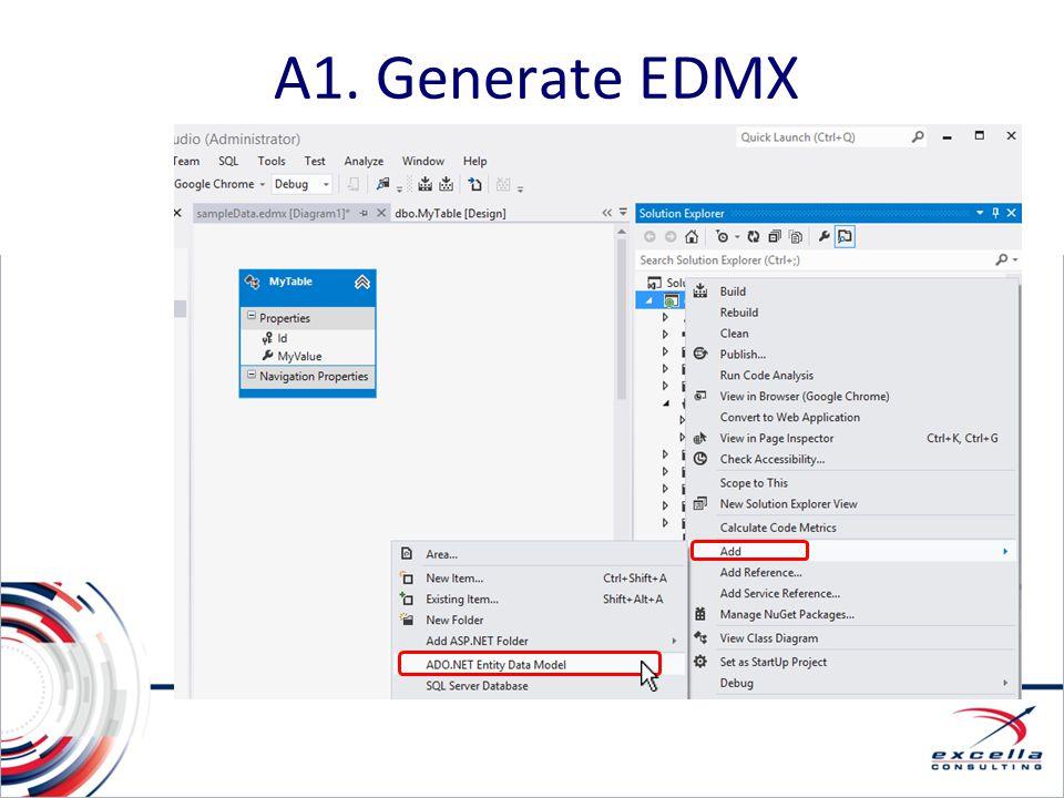 A1. Generate EDMX