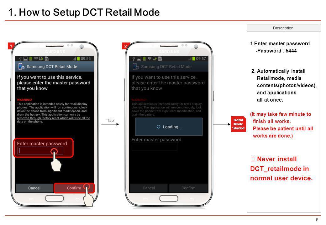 30 Description 12 3.Configuration profiles – Uninstall DCT Retailmode Tap 12 1.
