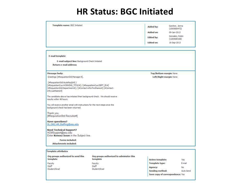 HR Status: BGC Initiated
