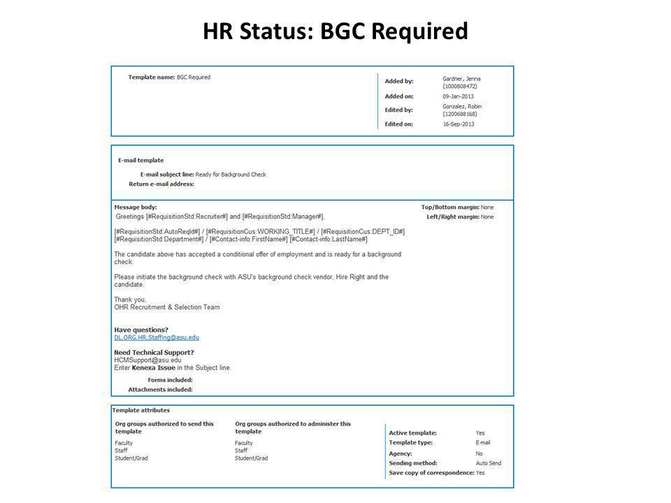 HR Status: BGC Required
