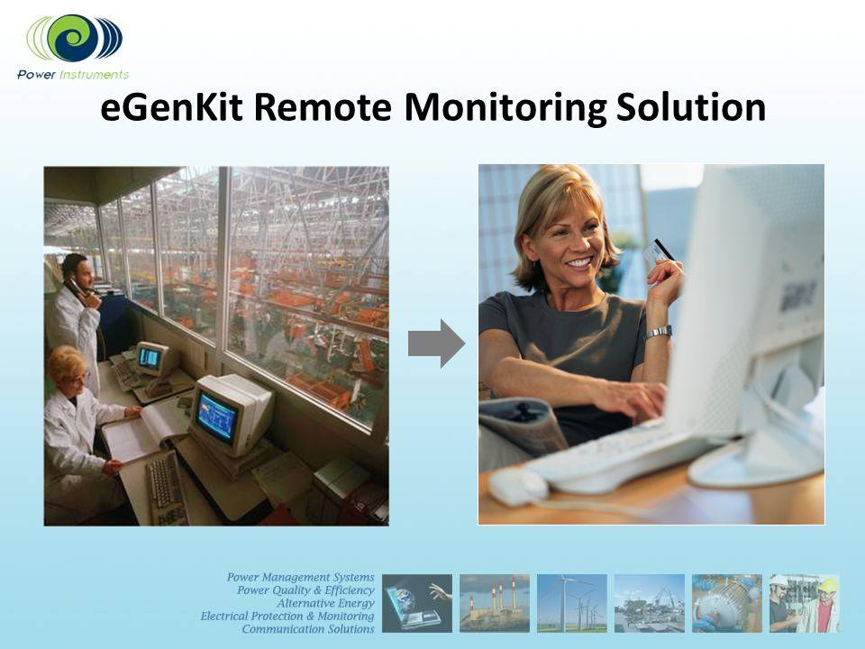 eGenKit Remote Monitoring Solution