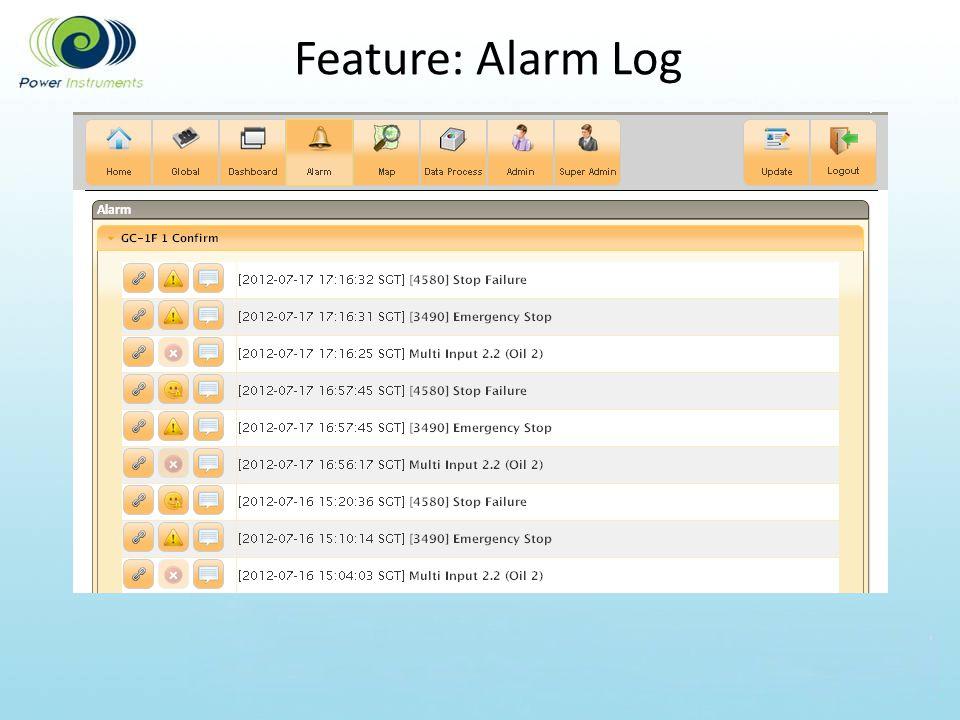 Feature: Alarm Log