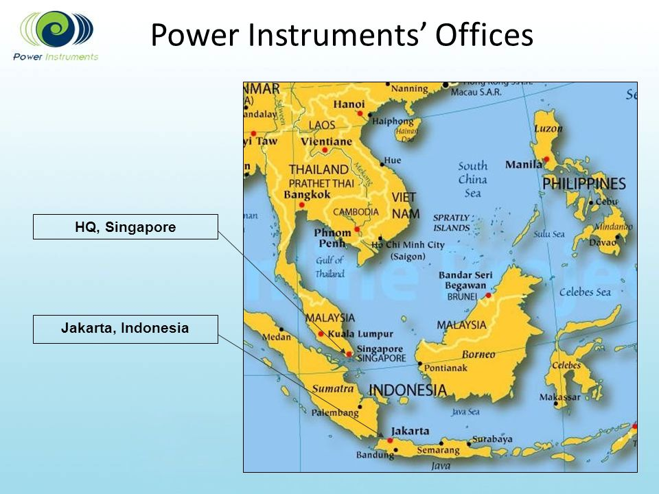 Power Instruments Offices Jakarta, Indonesia HQ, Singapore