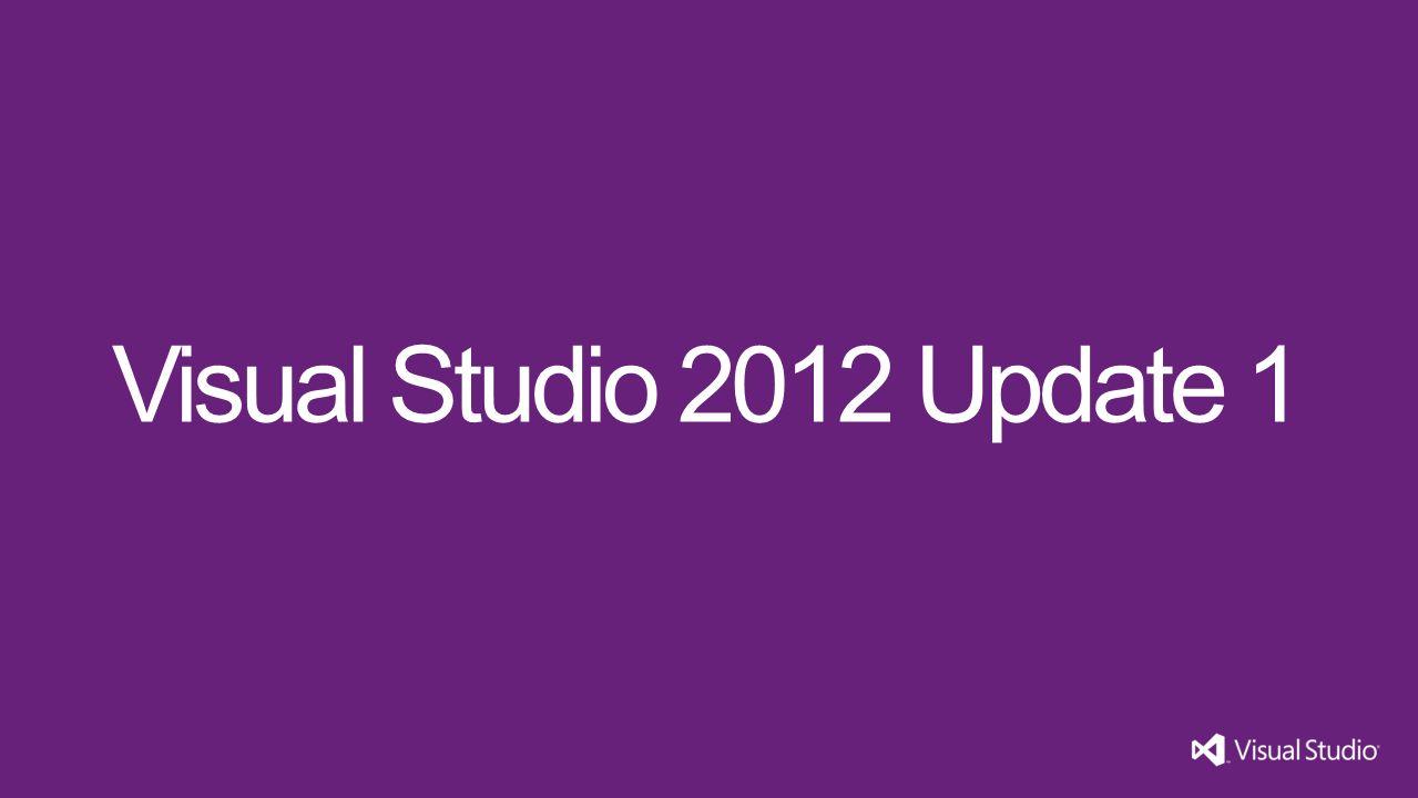 Visual Studio 2012 Update 1