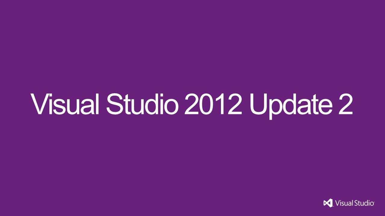 Visual Studio 2012 Update 2