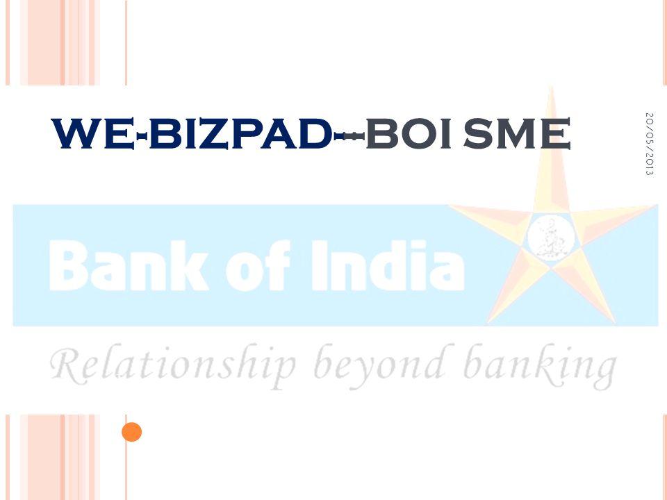 WE-BIZPAD---BOI SME 20/05/2013 1