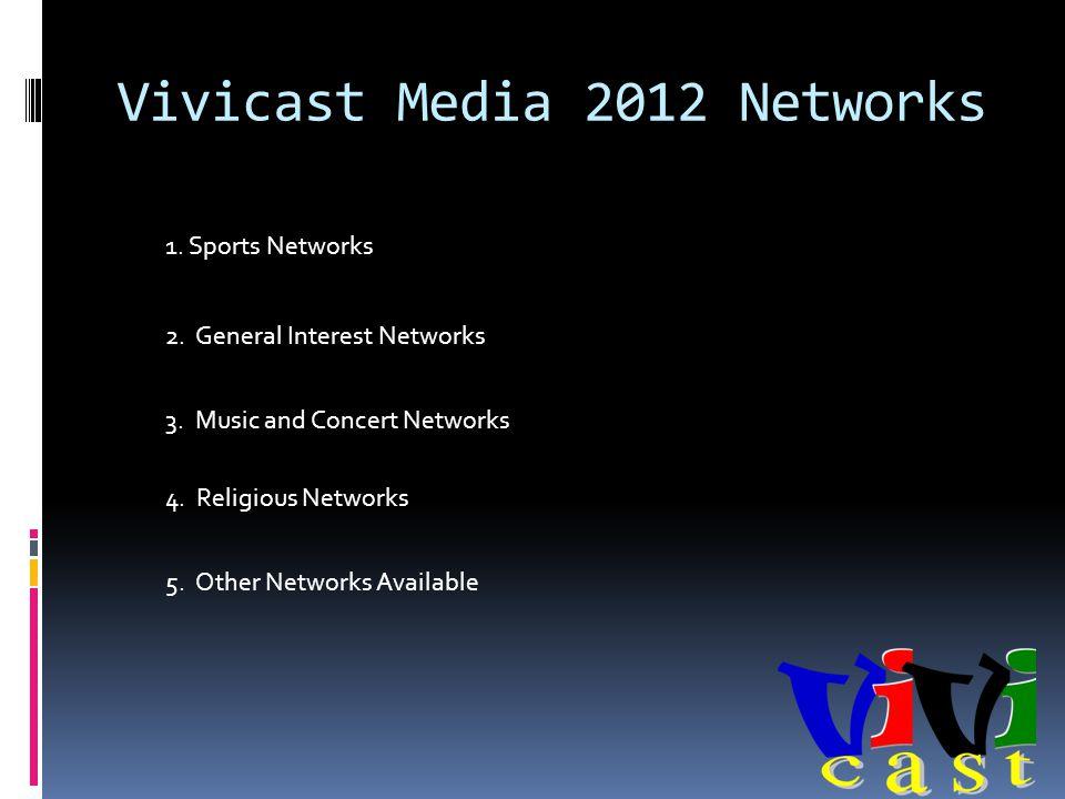 Vivicast Media 2012 Networks 1. Sports Networks 2.