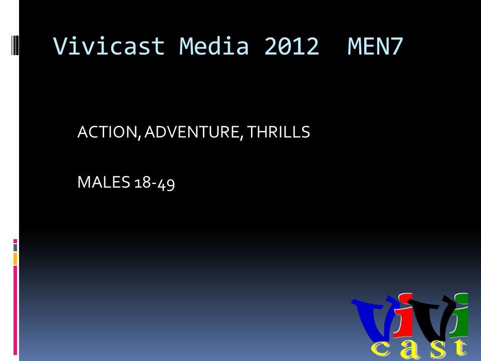 Vivicast Media 2012 MEN7 ACTION, ADVENTURE, THRILLS MALES 18-49