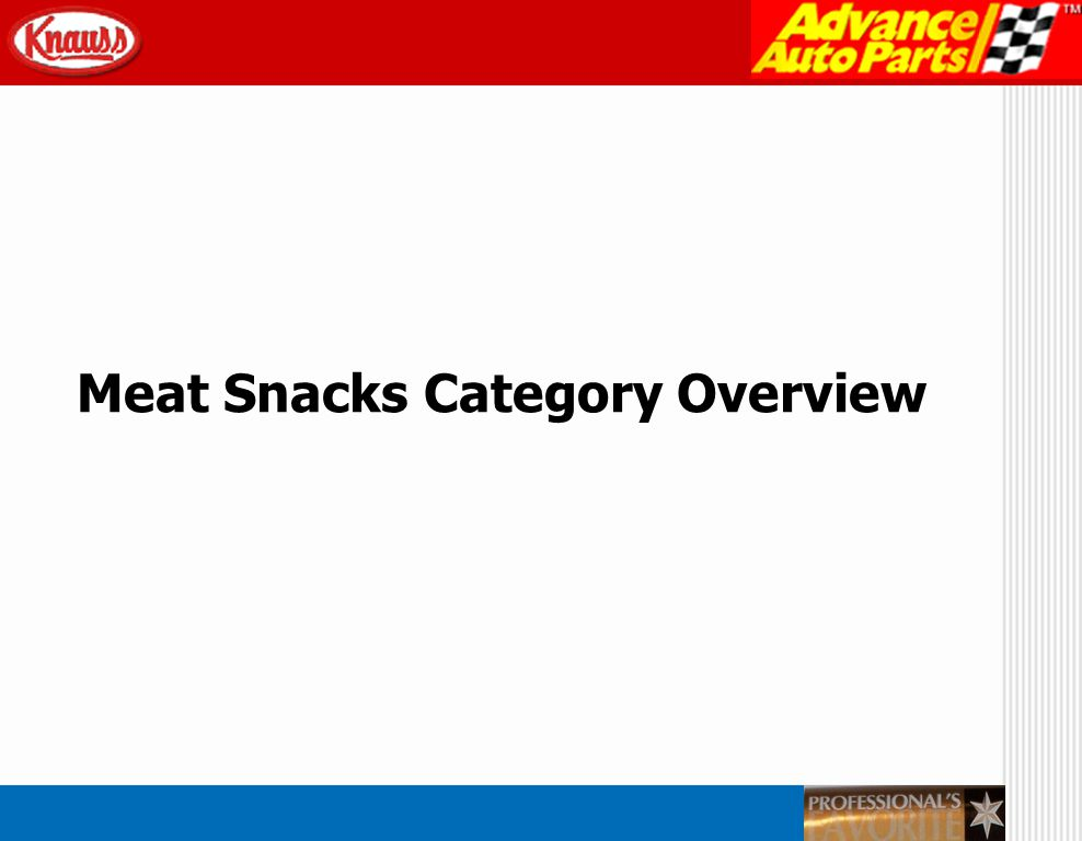 Meat Snacks Category Overview