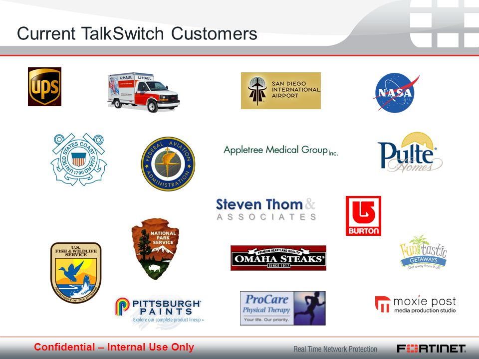 Confidential – Internal Use Only Current TalkSwitch Customers
