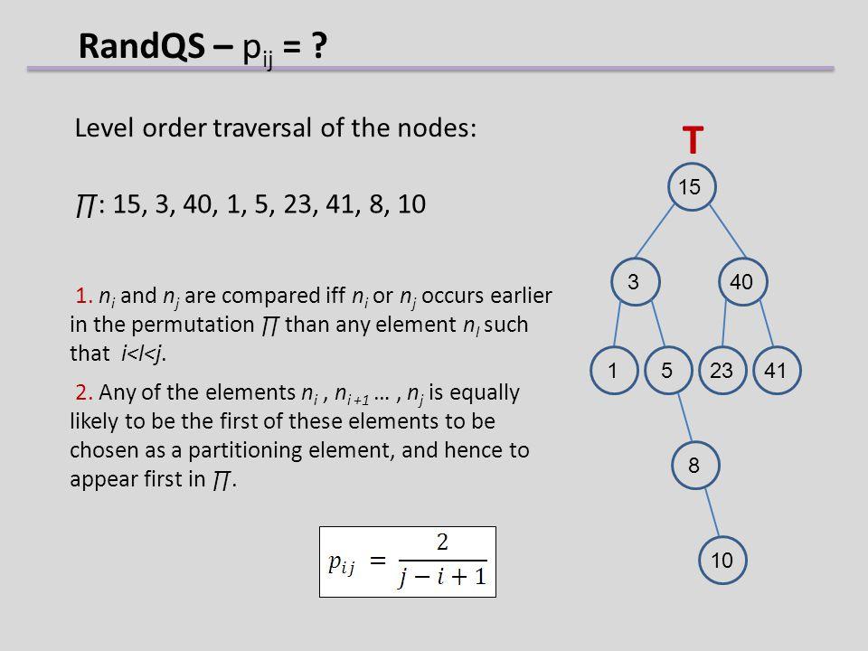 RandQS – p ij = .