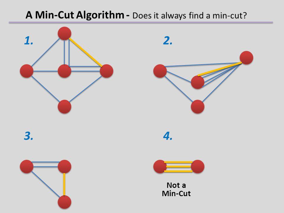 1. 2. 3.4. Not a Min-Cut A Min-Cut Algorithm - Does it always find a min-cut