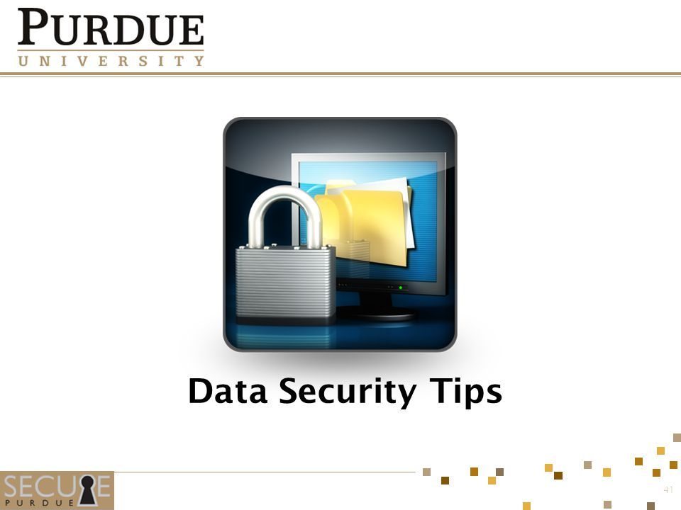 Data Security Tips 41
