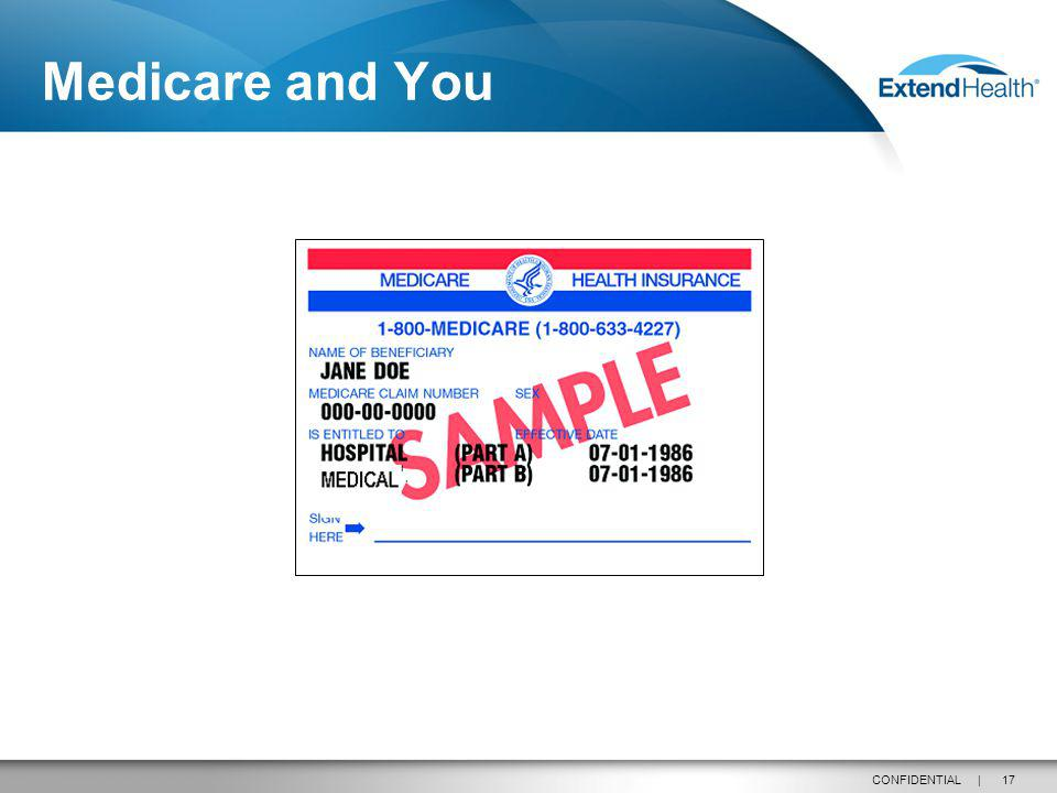 17CONFIDENTIAL | Medicare and You
