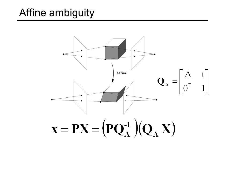 Affine ambiguity Affine