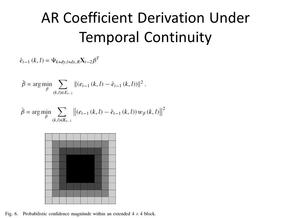 AR Coefficient Derivation Under Temporal Continuity