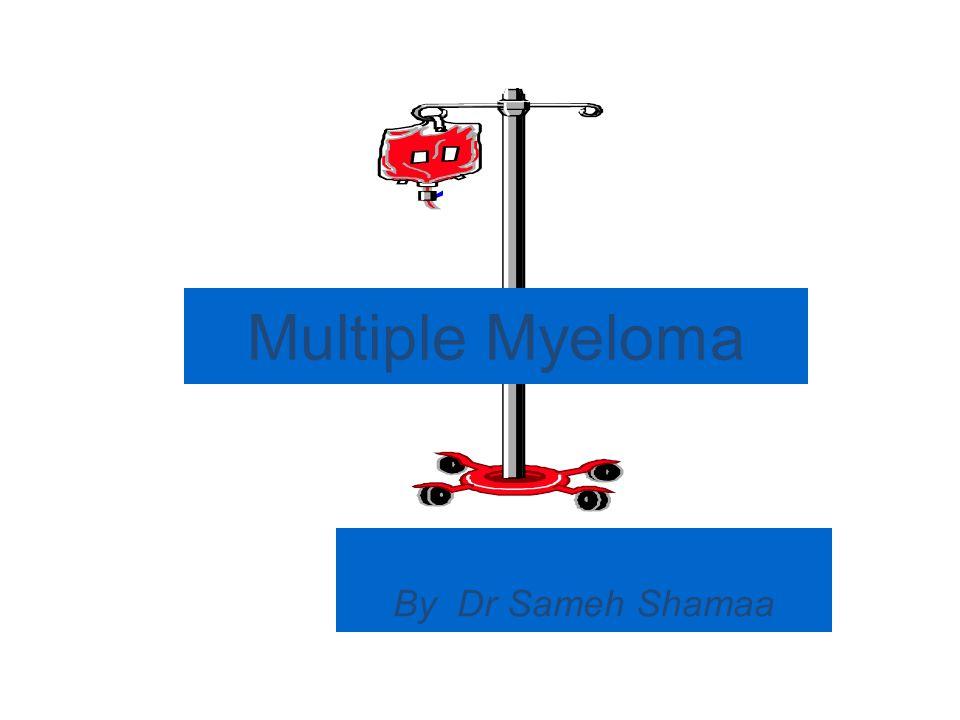 MULTIPLE MYELOMA BM PICTURE: (Aspirate & Trephine Biopsy) >10 % myeloma cells..