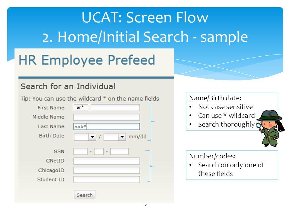 UCAT: Screen Flow 2.